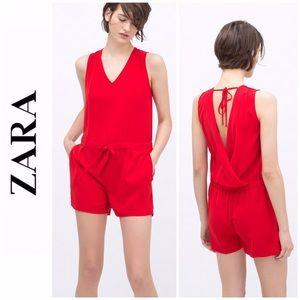 Zara Red Romper